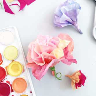 Make Easy Tissue Paper Flowers