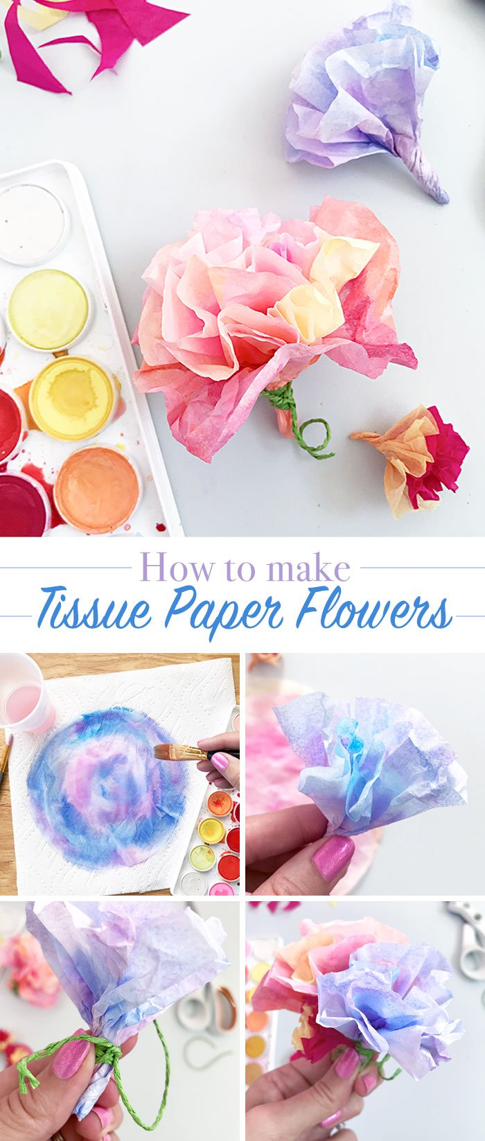 Make easy tissue paper flowers with these step by step instructions. An easy guide to making these flowers and adding them to your decor this spring!