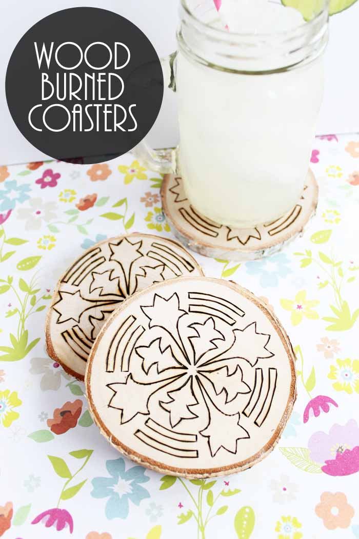 Wood Burning Ideas How To Make Coasters The Country Chic