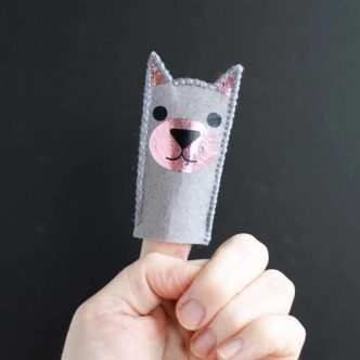 Make this cat puppet with your Cricut! The kids will love these finger puppets!