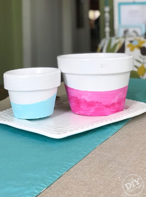 Watercolor painted flower pot tutorial