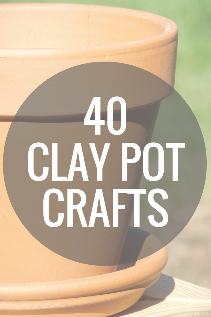 Over 40 clay pot crafts that you can make in 15 minutes or less! Grab your terra cotta pots and get started on these DIY projects!