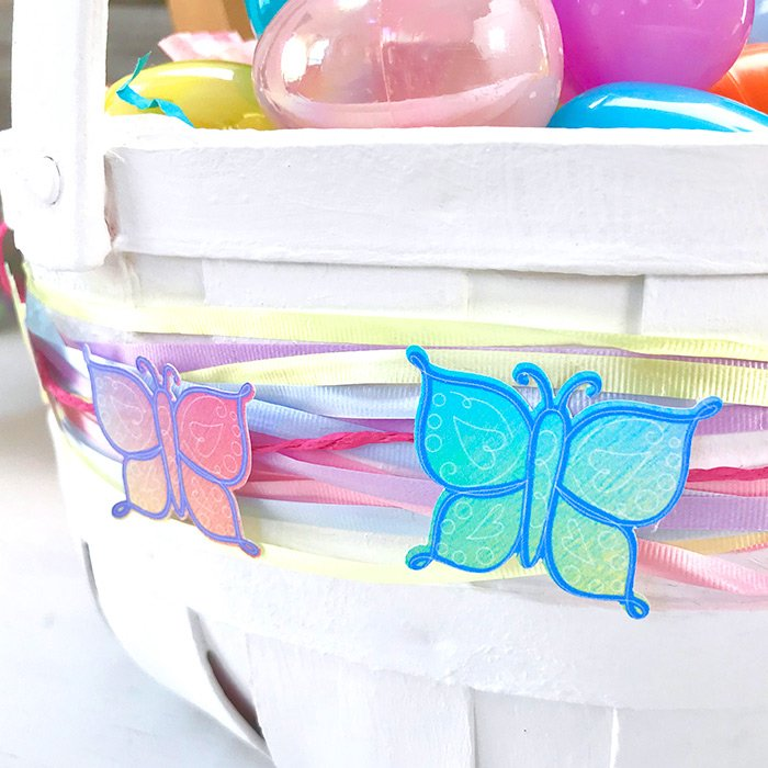 easter basket decor with jen goode
