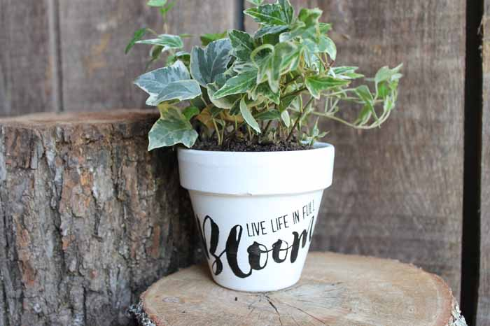 This flower pot painting project is super easy and so fun!