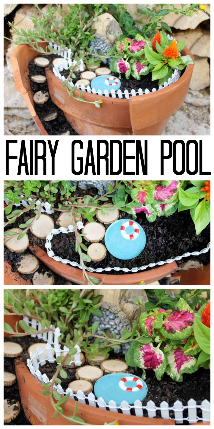 How to make a fairy garden with a pool the country chic for Garden pool facebook