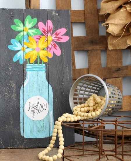 farmhouse style painted pallet art