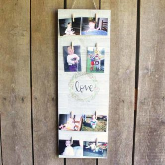 Clothespin Picture Frame with Cricut Wisteria EasyPress