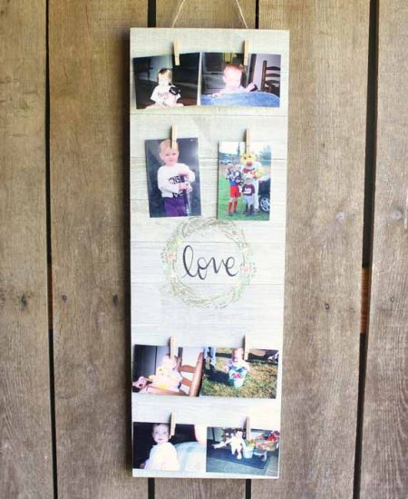 clothespin picture display idea