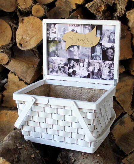 make a diy card box with pictures
