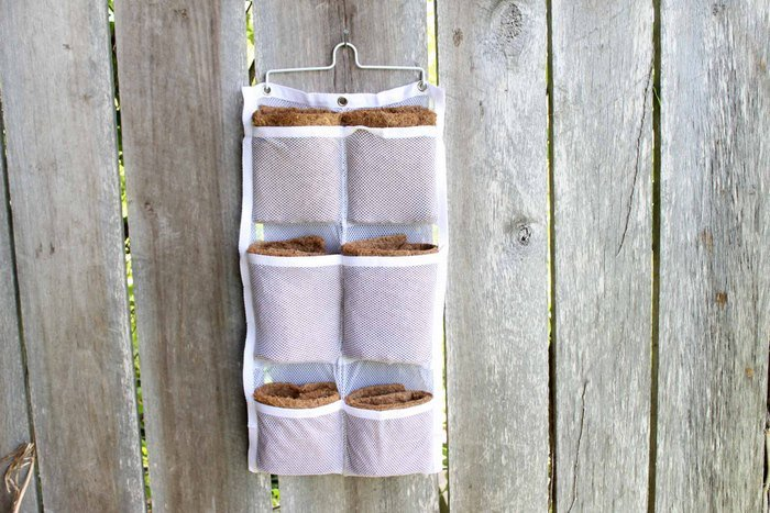 hanging shoe organizer with coco liners