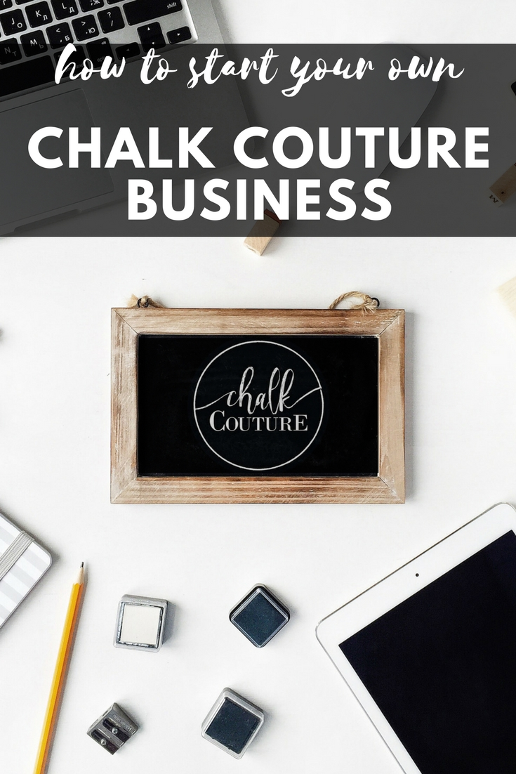 How to start your own Chalk Couture business including selling and make and take craft parties!
