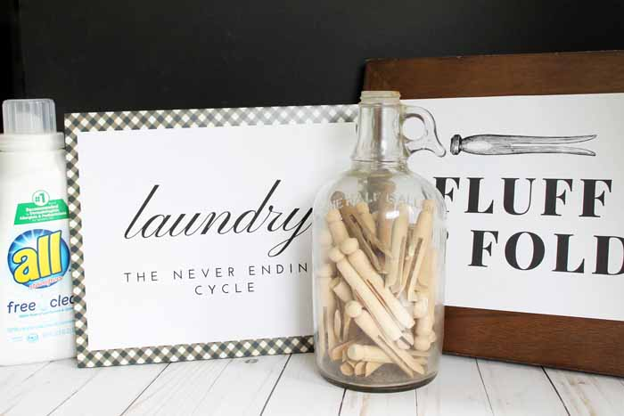 Print these laundry room signs for free to decorate your home! Perfect for National Laundry Day with all Free and Clear detergent!
