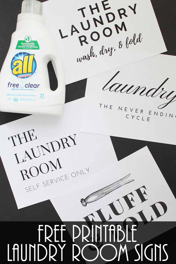 photo relating to Free Printable Laundry Room Signs called Laundry House Indications: Print Yours for Totally free - The Place Stylish