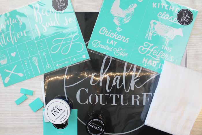 Tea Towel Printing Made Easy with Chalk Couture - The