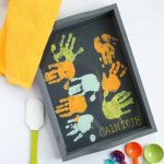 Toddler Gift for Mom:  Hand Print Tray