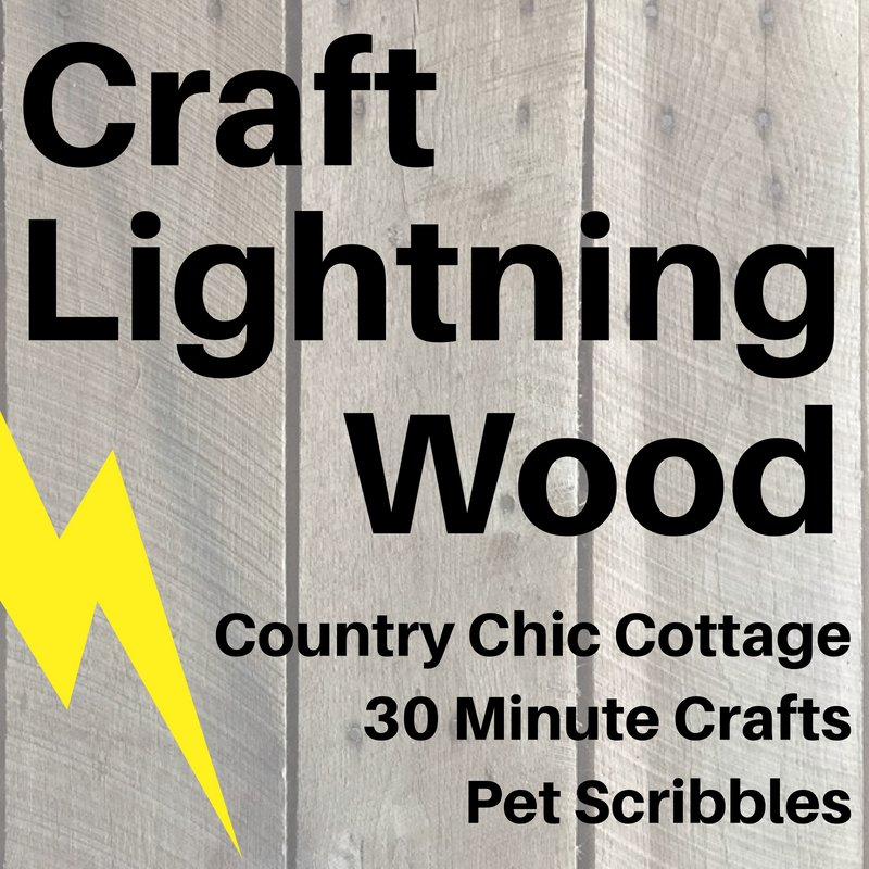 Craft Lightning Wood inspired projects completed in 15 minutes.