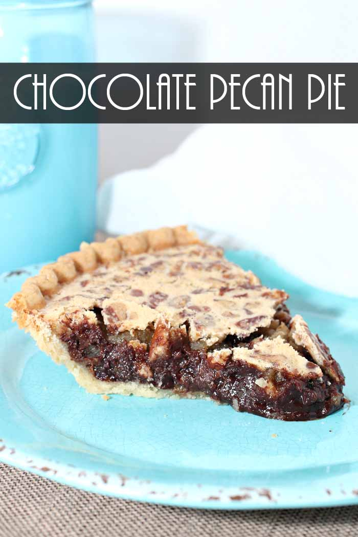You will want to save this chocolate pecan pie recipe! It is perfect for anytime of the year!