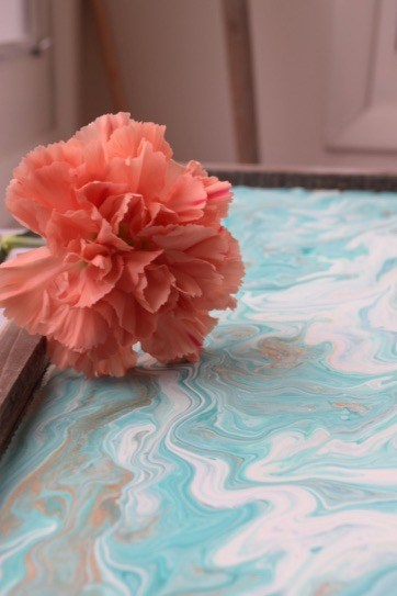 quick and easy crafts marbled paint tray