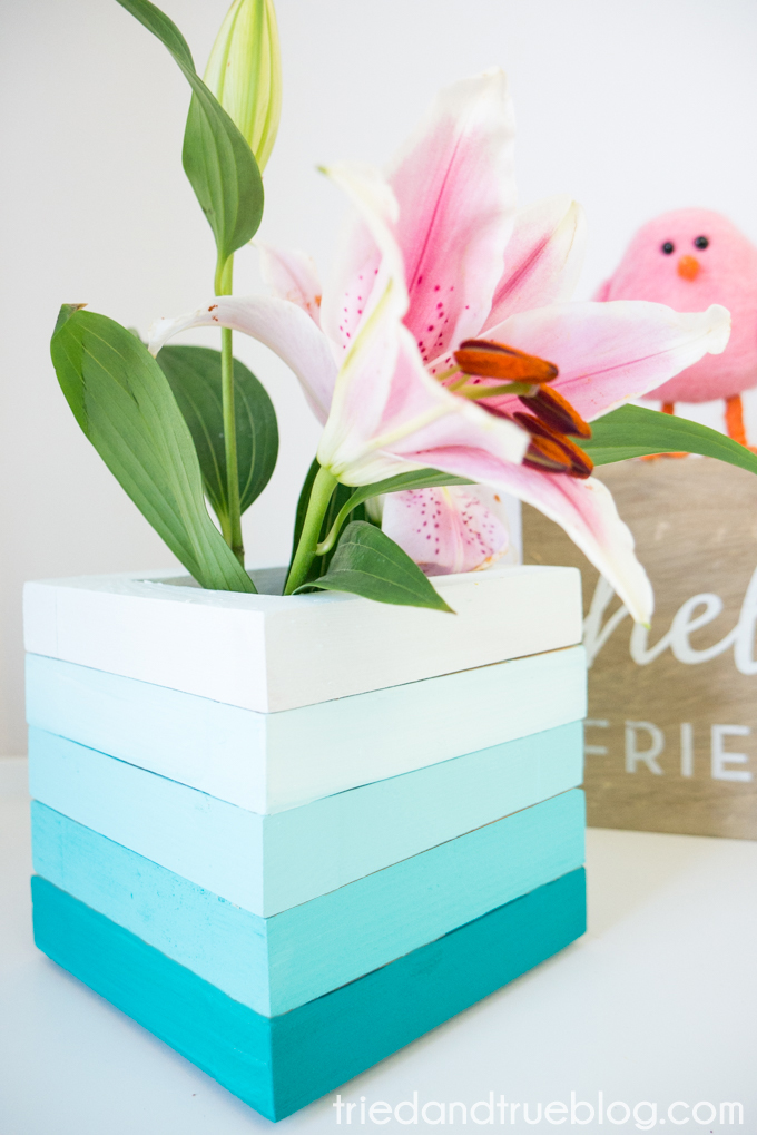 quick and easy crafts ombre vase