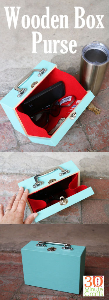 quick and easy crafts wood box purse