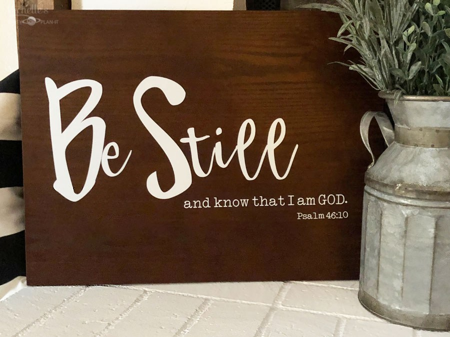 quick and easy crafts scripture quote sign