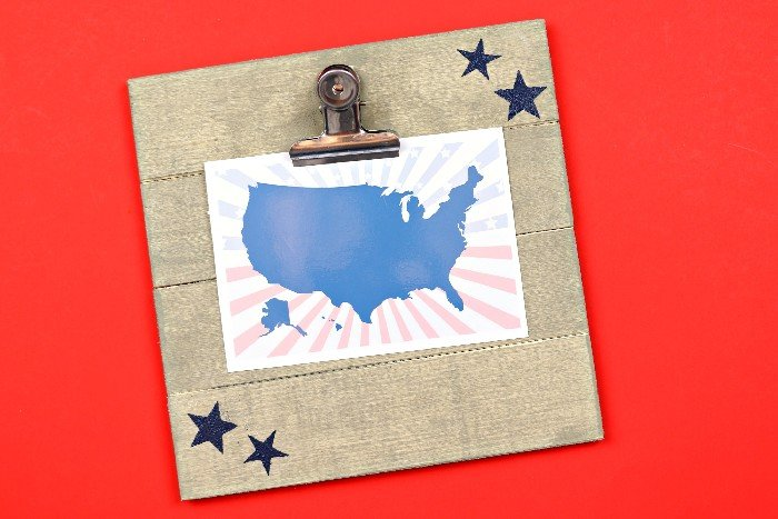 quick and easy crafts patriotic clipboard