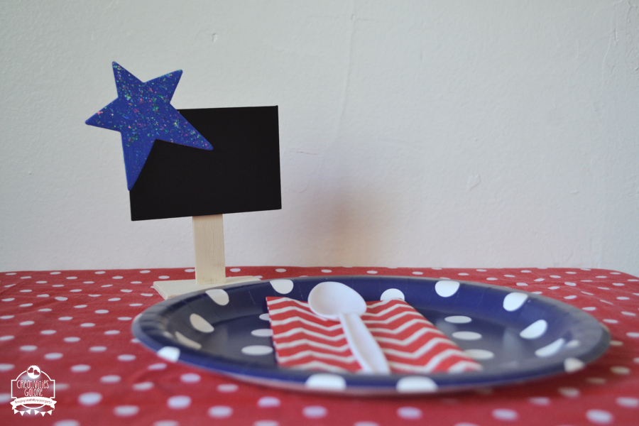 quick and easy crafts patriotic name card