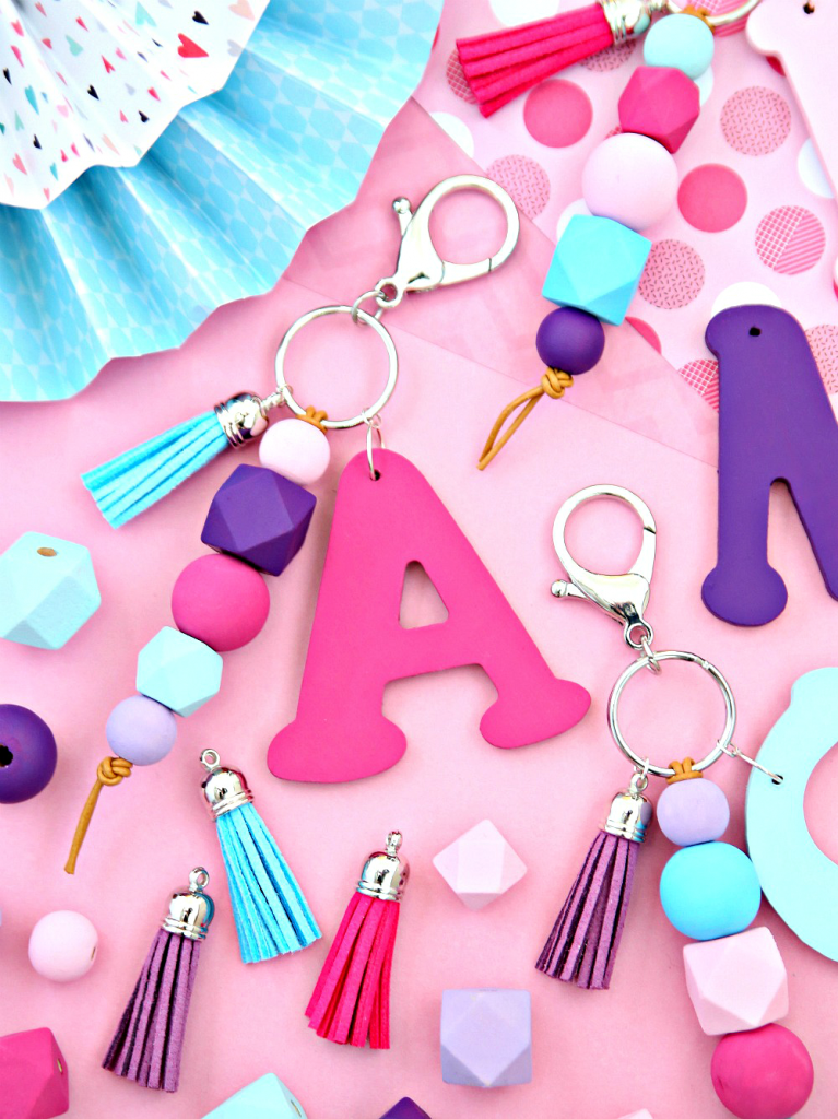 quick and easy crafts monogram keychain
