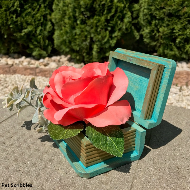 quick and easy crafts wood box centerpiece