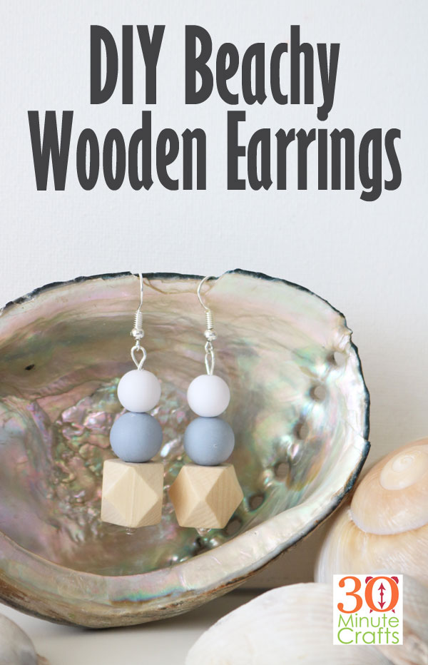 quick and easy crafts make your own wooden earrings