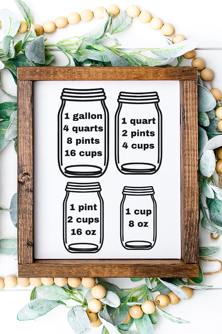 gallons to pints to cups conversion chart