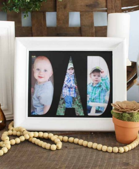 How to make custom mats for frames using your Cricut Maker and the knife blade! A quick and easy way to personalize a picture frame! Makes a great gift idea!