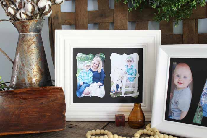 picture frame with a custom mat
