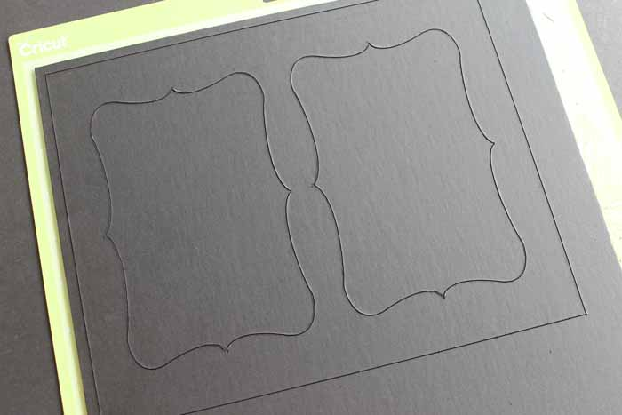 Easy to cut matboard with the knife blade and the Cricut Maker.