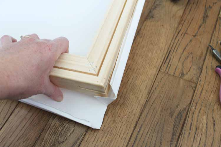 How to remove wood frame from a canvas for DIY canvas art.