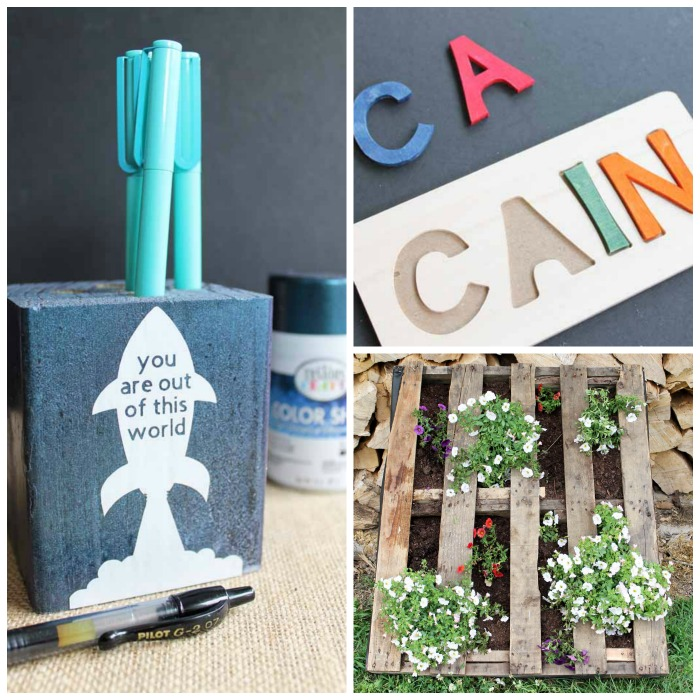 These wood craft ideas all take 15 minutes or less to make! Grab your supplies and get started with these wood DIY projects!