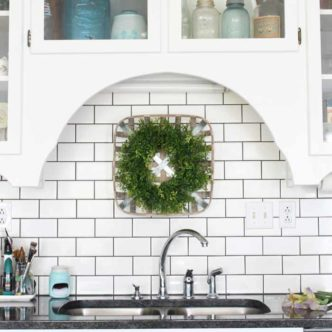 Decorating above your sink in a farm kitchen!