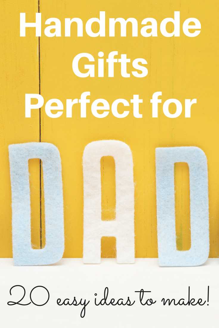 A list of handcrafted gifts that are perfect for dad! Use this for Father's Day and other holiday to make the perfect handmade gift for him!
