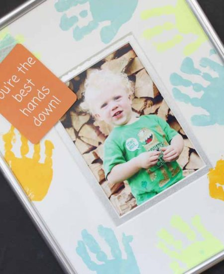 handprint frame for dad