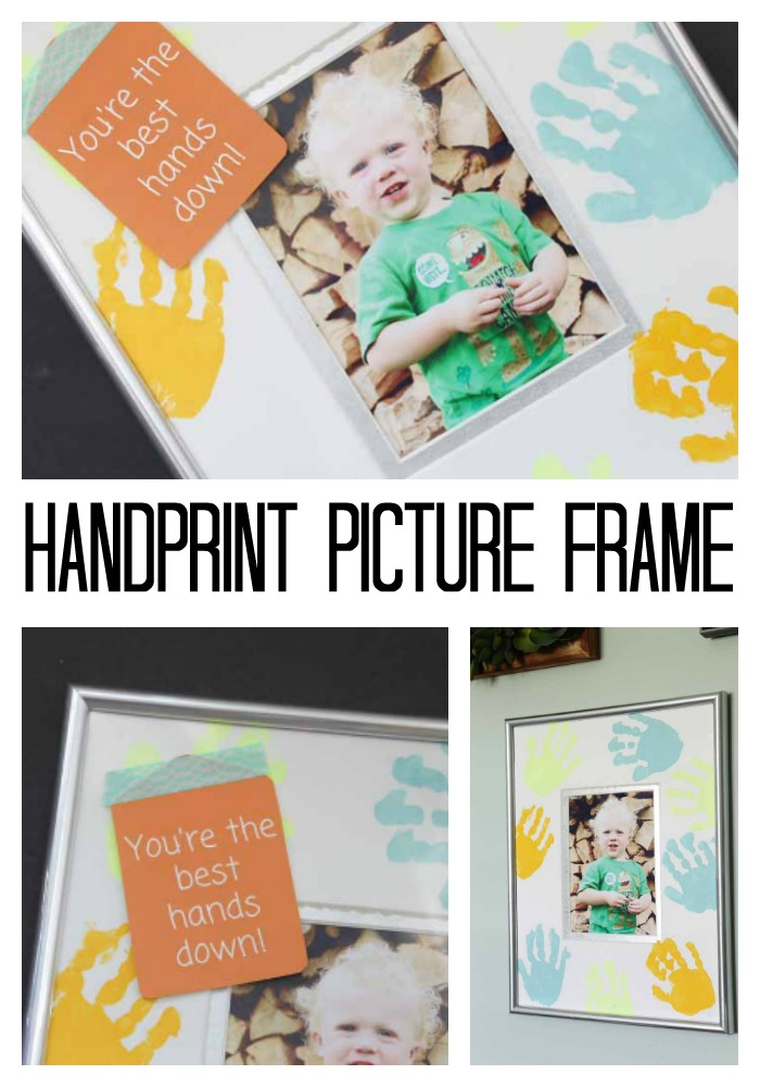 handprint painting picture frame idea