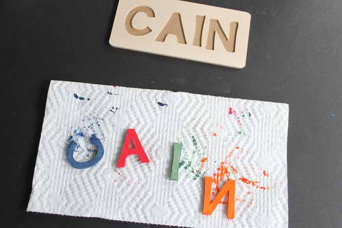 make your own puzzle with color stain