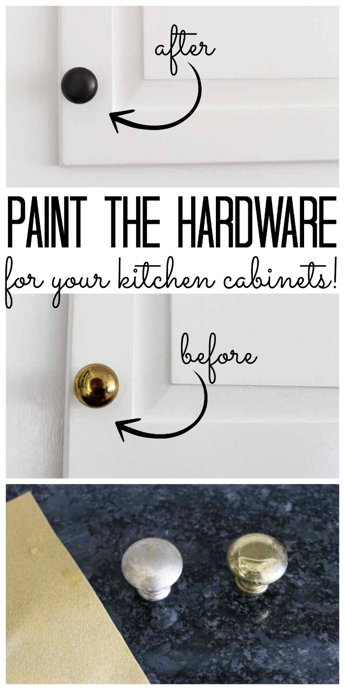 Learn how to paint hardware for your kitchen cabinets with these instructions. Step by step for doing it the right way and making it last!