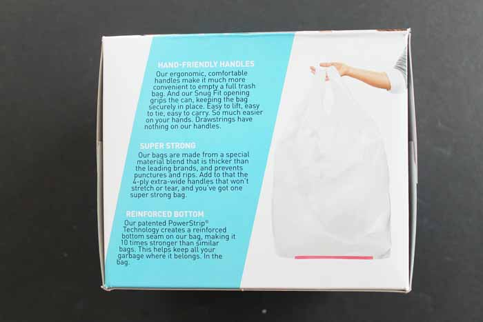Details of Hippo Sac trash bags and using them to declutter your home.