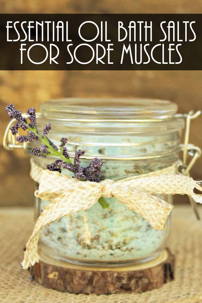 Essential Oils for Sore Muscles - a bath salt soak recipe that you will love!