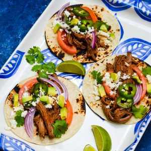 Brisket taco recipe from The Ultimate New Mom's Cookbook!