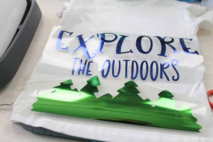 explore the outdoors shirt cut from htv