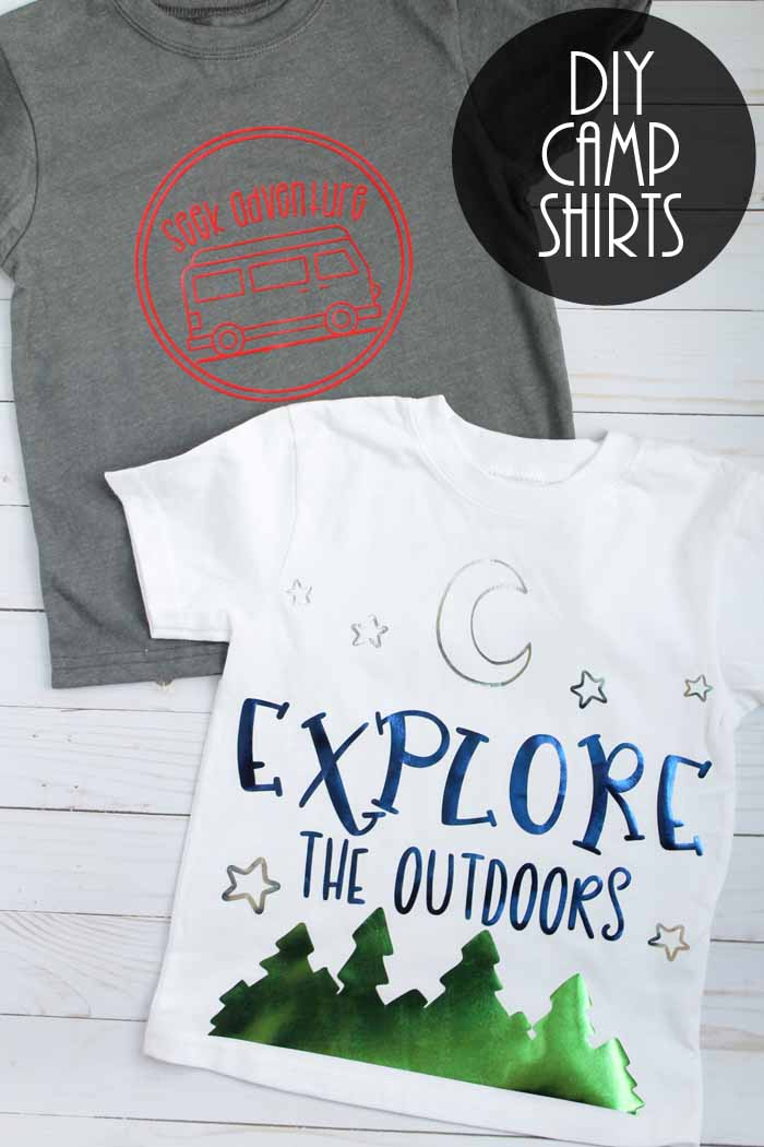Camp Shirts with SVG Files - The Country Chic Cottage