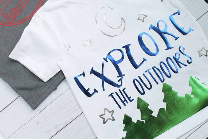 shirts for camping made with heat transfer vinyl