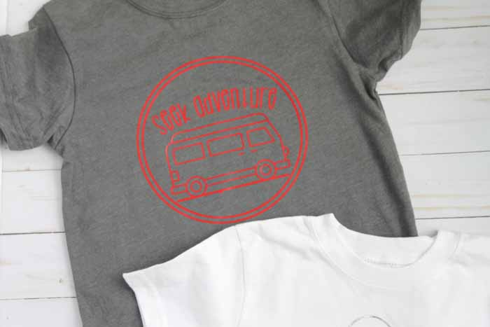 Make camp shirts with iron on vinyl with these SVG files!