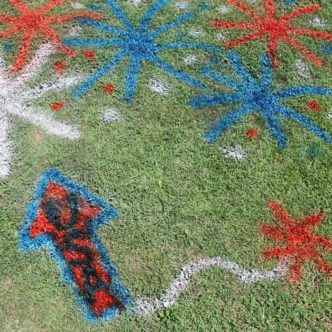 Chalk Spray Paint:  How to Use on Your Lawn